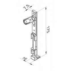 Rygiel dolny PVC ROMB - ID...