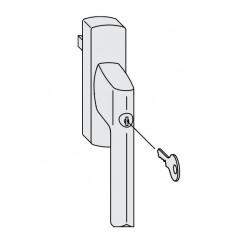 Klamka z kluczem Siegenia...